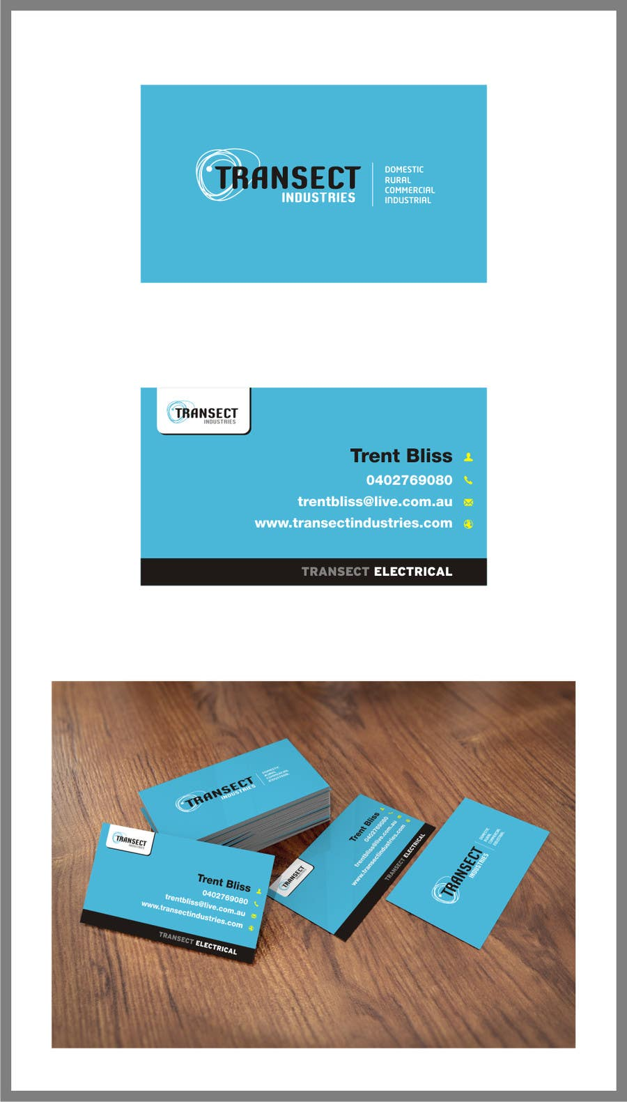 Bài tham dự cuộc thi #                                        47                                      cho                                         Business Card Design for Transect Industries