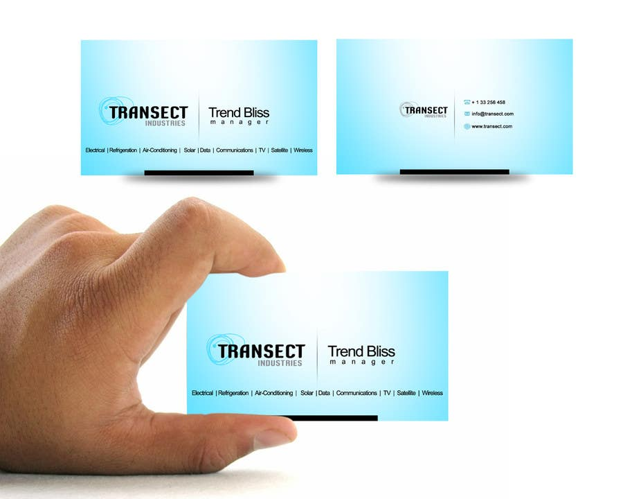 #7 for Business Card Design for Transect Industries by vigneshsmart