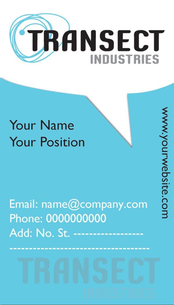 Bài tham dự cuộc thi #                                        67                                      cho                                         Business Card Design for Transect Industries