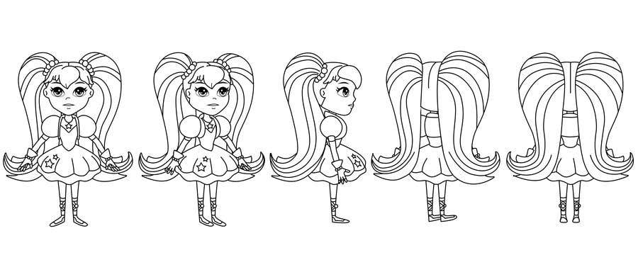 8cbce608decb Contest Entry  21 for Draw Turnaround for my girl in black line art (Need
