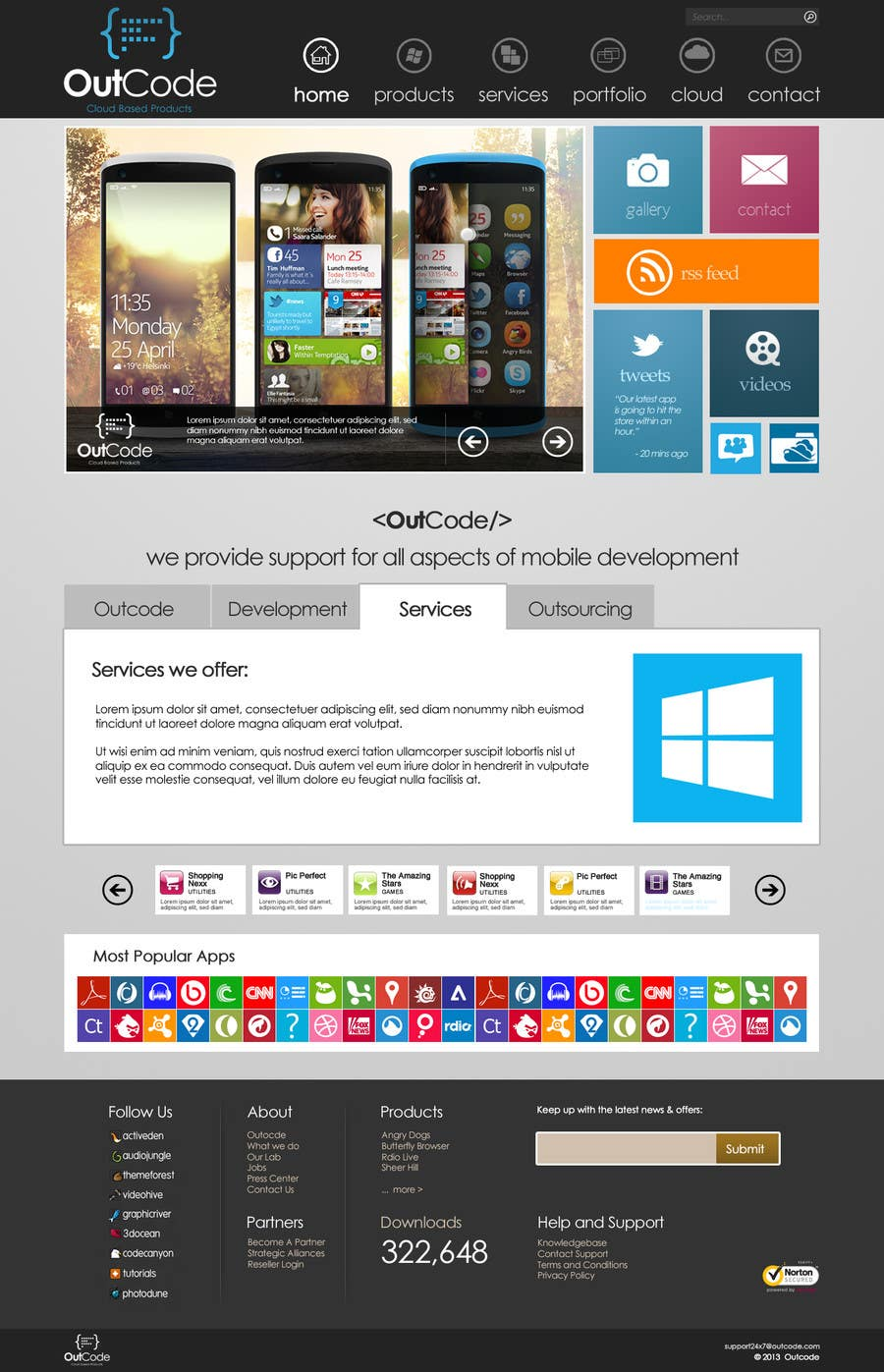 #34 for Website Design for OutCode by eb007