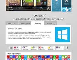 Nro 34 kilpailuun Website Design for OutCode käyttäjältä eb007