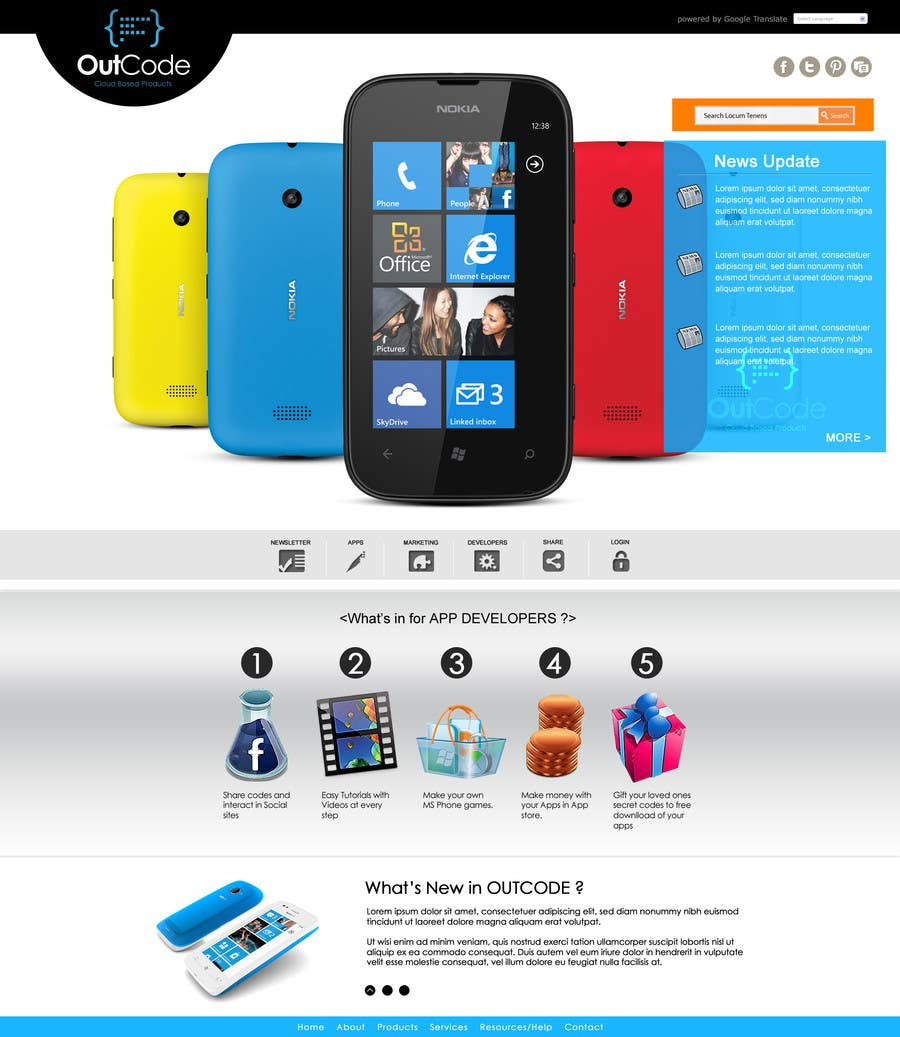 #25 for Website Design for OutCode by eb007