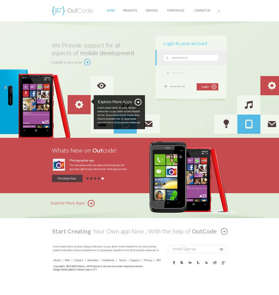 #9 for Website Design for OutCode by Bkreative