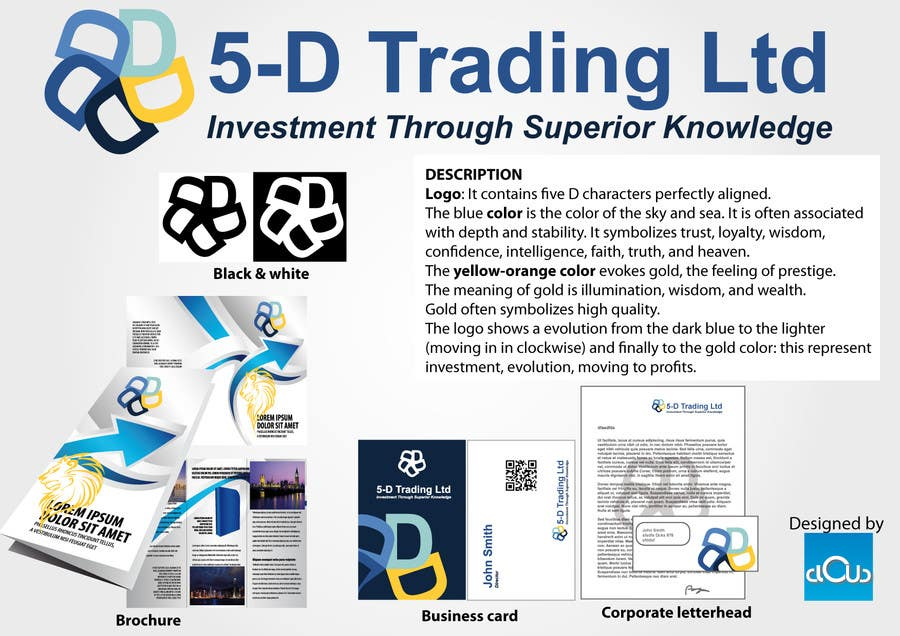 Contest Entry #54 for Corporate Identity for 5-D Trading Ltd