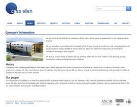 #37 untuk Wordpress Theme Design for Cass Allen Associates Ltd oleh tania06