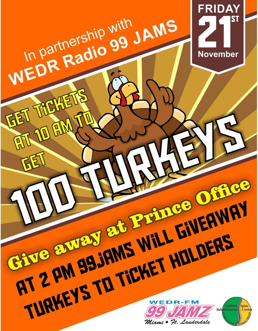 entry 4 by punkdsoul for design a flyer for turkey giveaway