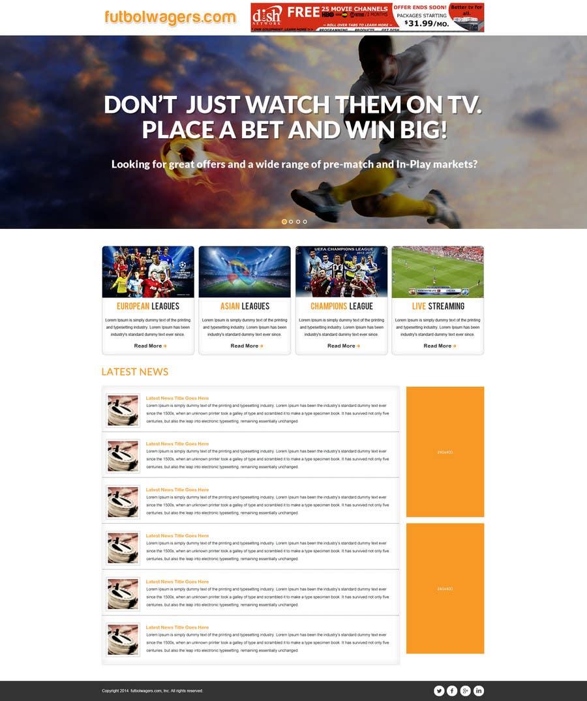Bài tham dự cuộc thi #                                        8                                      cho                                         Homepage Mockup for a football affiliate betting site