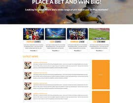 #8 cho Homepage Mockup for a football affiliate betting site bởi gravitygraphics7