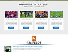 #3 cho Homepage Mockup for a football affiliate betting site bởi manfredinfotech