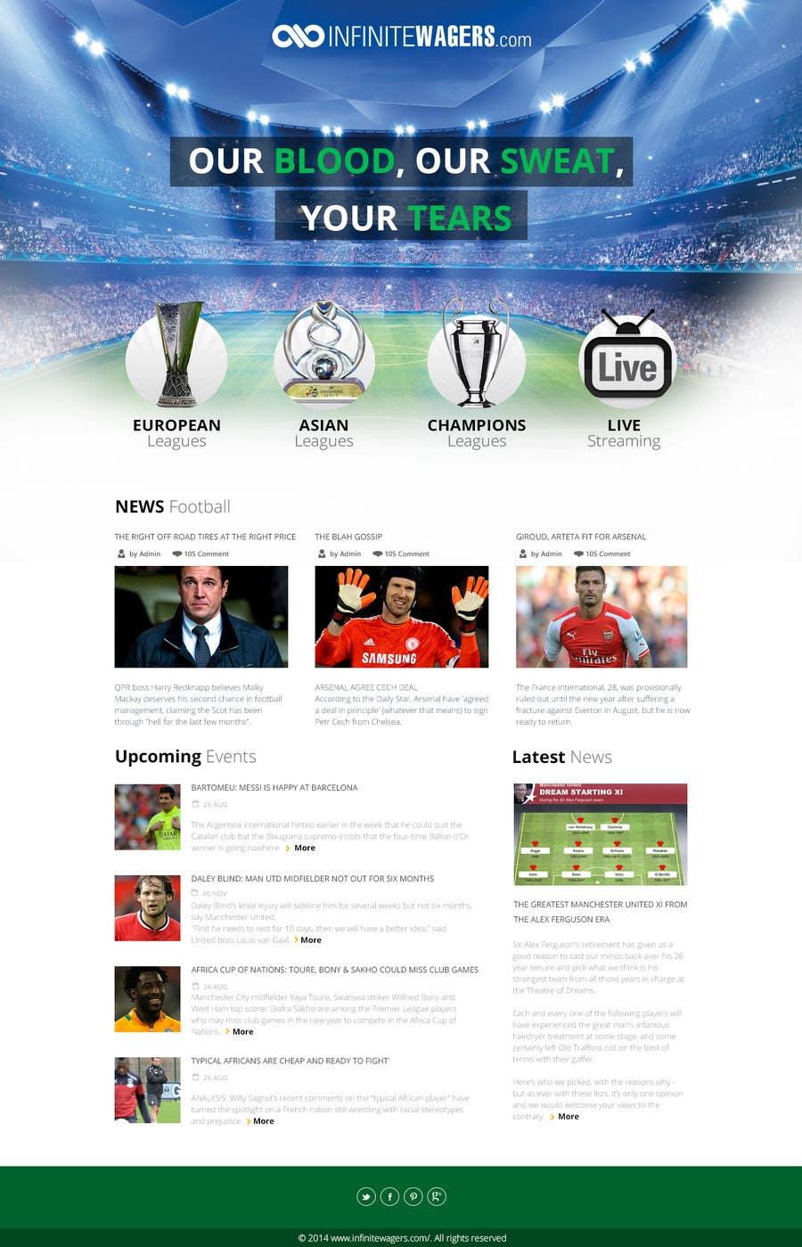Bài tham dự cuộc thi #                                        13                                      cho                                         Homepage Mockup for a football affiliate betting site