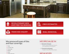 #2 untuk Design a Website Mockup for Tile Removal Company oleh aryamaity
