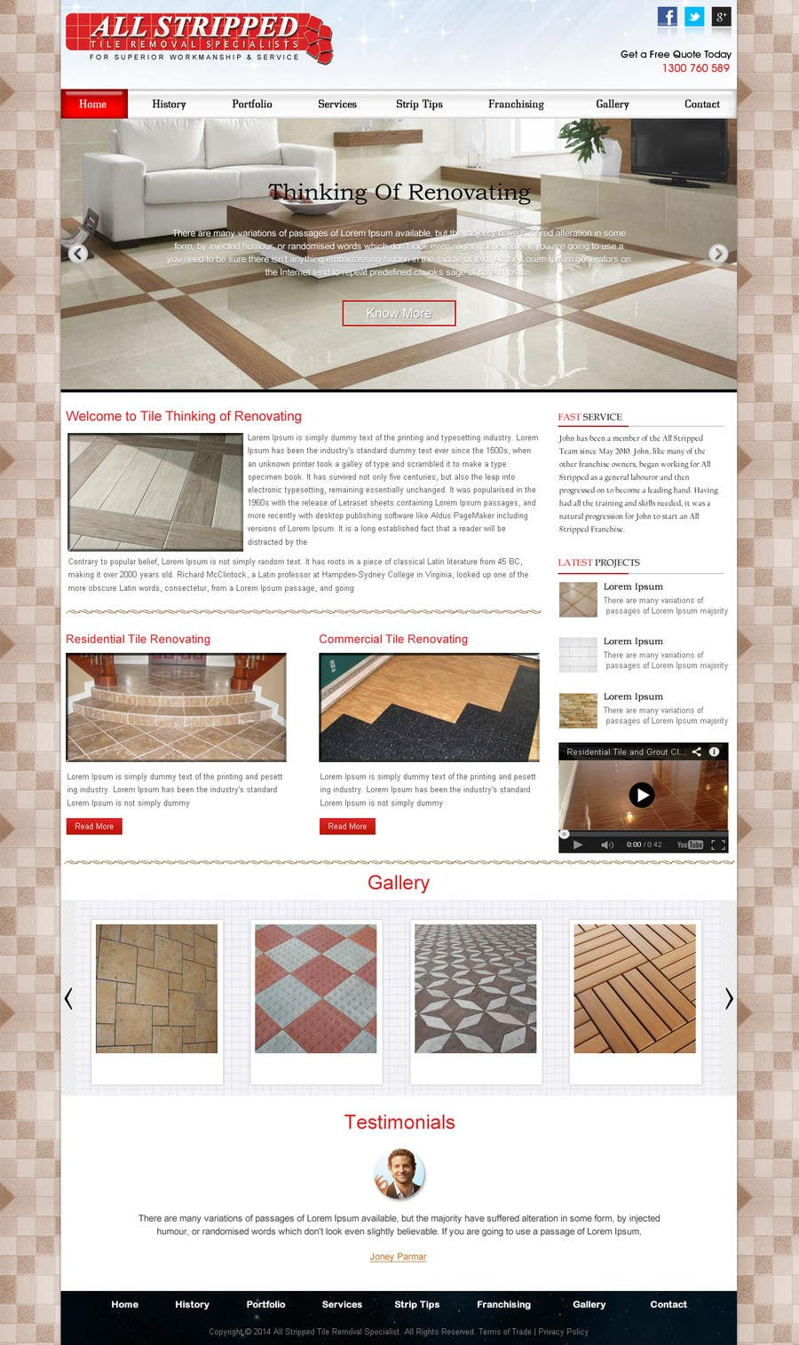 Entry 4 by webidea12 for design a website mockup for tile removal contest entry 4 for design a website mockup for tile removal company tyukafo