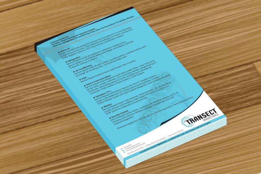 Inscrição nº                                         5                                      do Concurso para                                         Flyer Design for Transect Industries