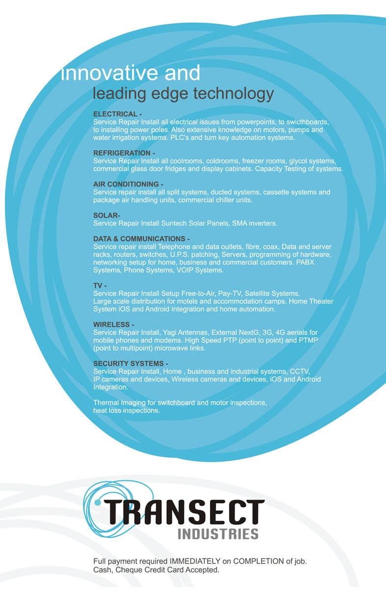 Конкурсная заявка №10 для Flyer Design for Transect Industries