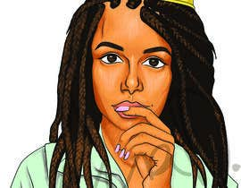 #13 for Black Woman Illustration With Braids Wearing A Crown by sketchdom