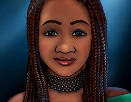 #7 for Black Woman Illustration With Braids Wearing A Crown by artkrishna