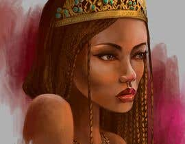 #26 for Black Woman Illustration With Braids Wearing A Crown by kamamaka