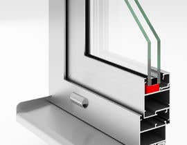 #97 for Rendering of Aluminium Window Corner Section by vuk27rb
