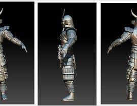 3d model samurai character 3d printing freelancer