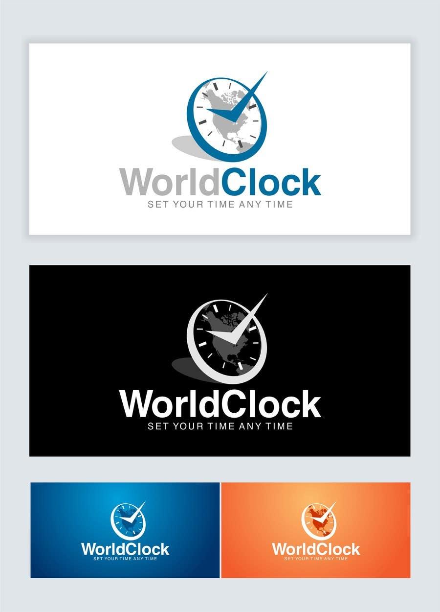 Penyertaan Peraduan #                                        91                                      untuk                                         Logo Design for WorldClock.com