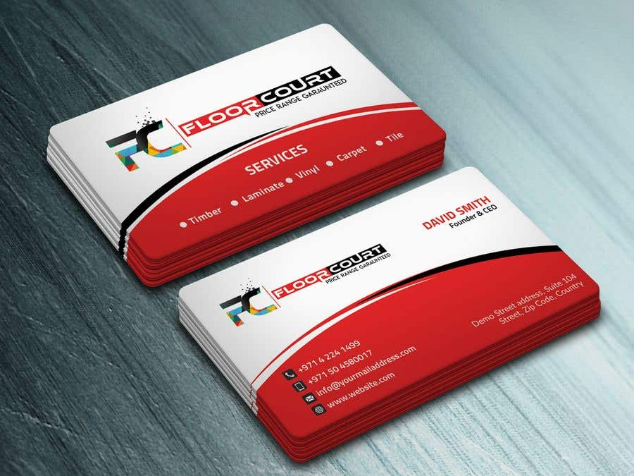 Entry #63 by Neamotullah for Business Card Floor shop