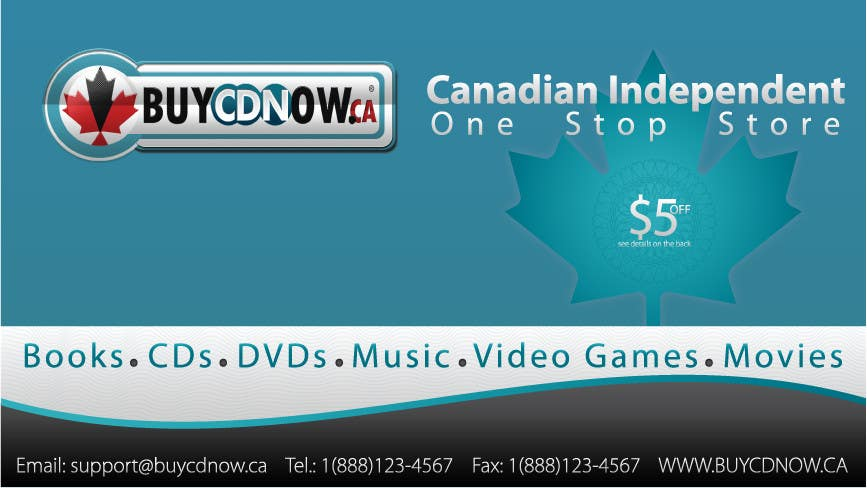 Contest Entry #                                        26                                      for                                         Business Card Design for BUYCDNOW.CA