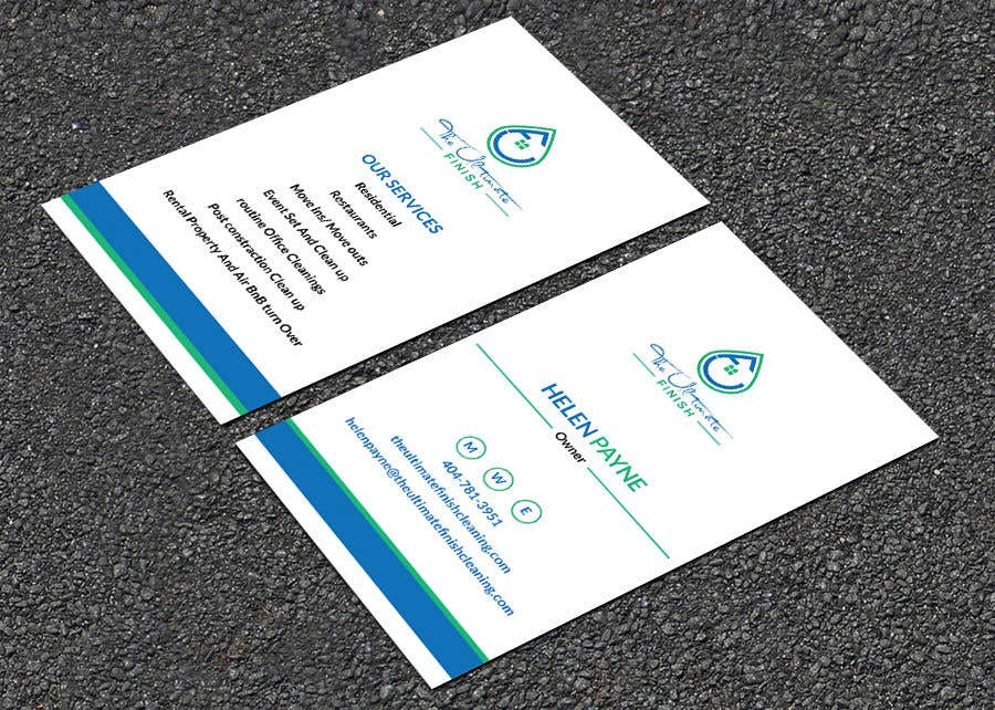 Entry 102 By Srabon55014 For Design Some Business Cards Cleaning
