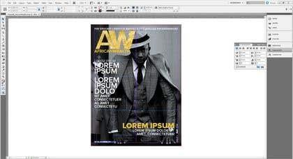 Imagem de                             Adobe Indesign magazine.