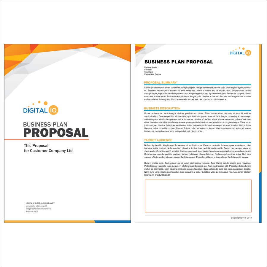 Entry 7 By Hermawan84 For Proposal Template Freelancer