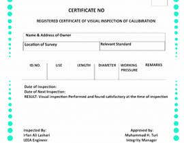 FaisalShaikh2 tarafından Design a certificate for inspection calibration için no 9