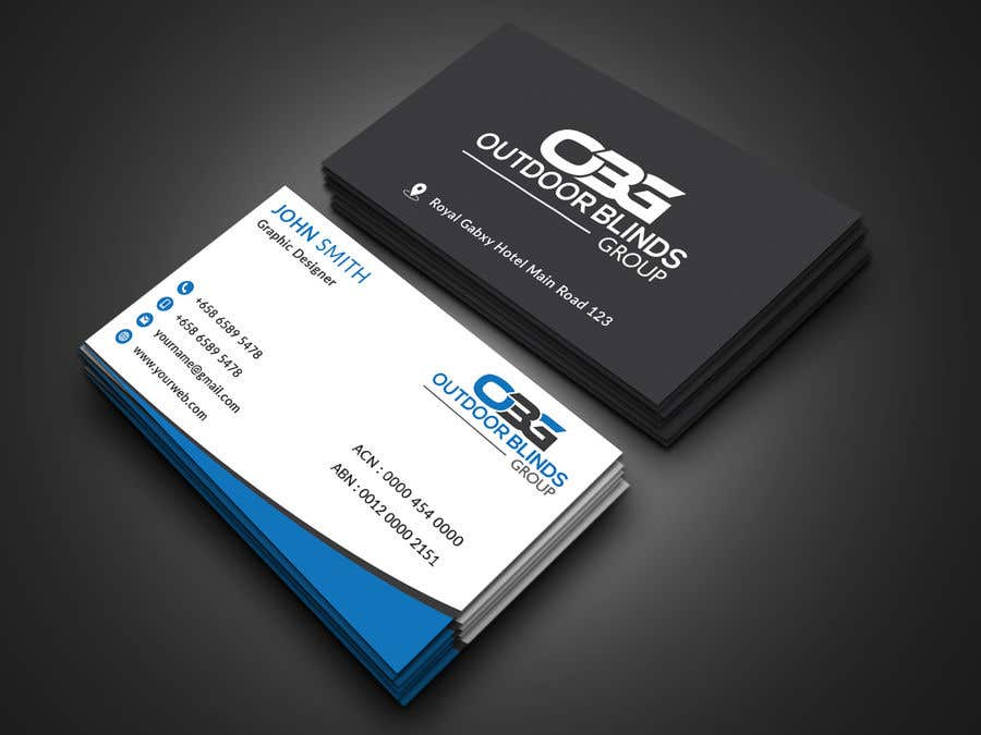 Entry 29 by jubayerkhanab for business card design outdoor blinds business card reheart Images