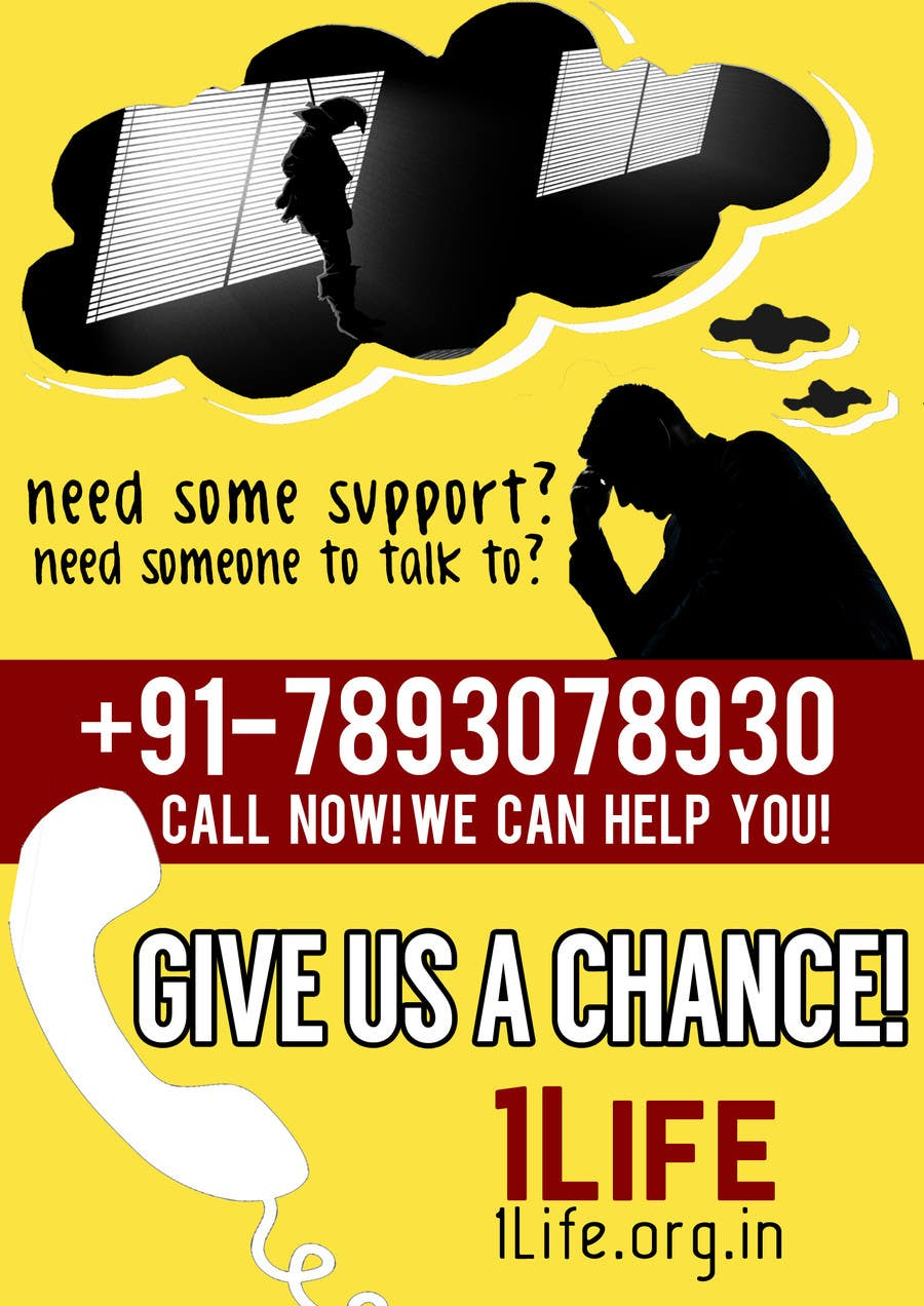 entry #20 by jk94 for design an advertisement for suicide helpline
