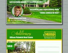 nº 91 pour Real Estate Agent Postcard par zufee