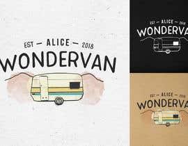 """#126 cho Simple vintage caravan logo - """"Alice Wondervan"""" bởi gabriellejeffery"""