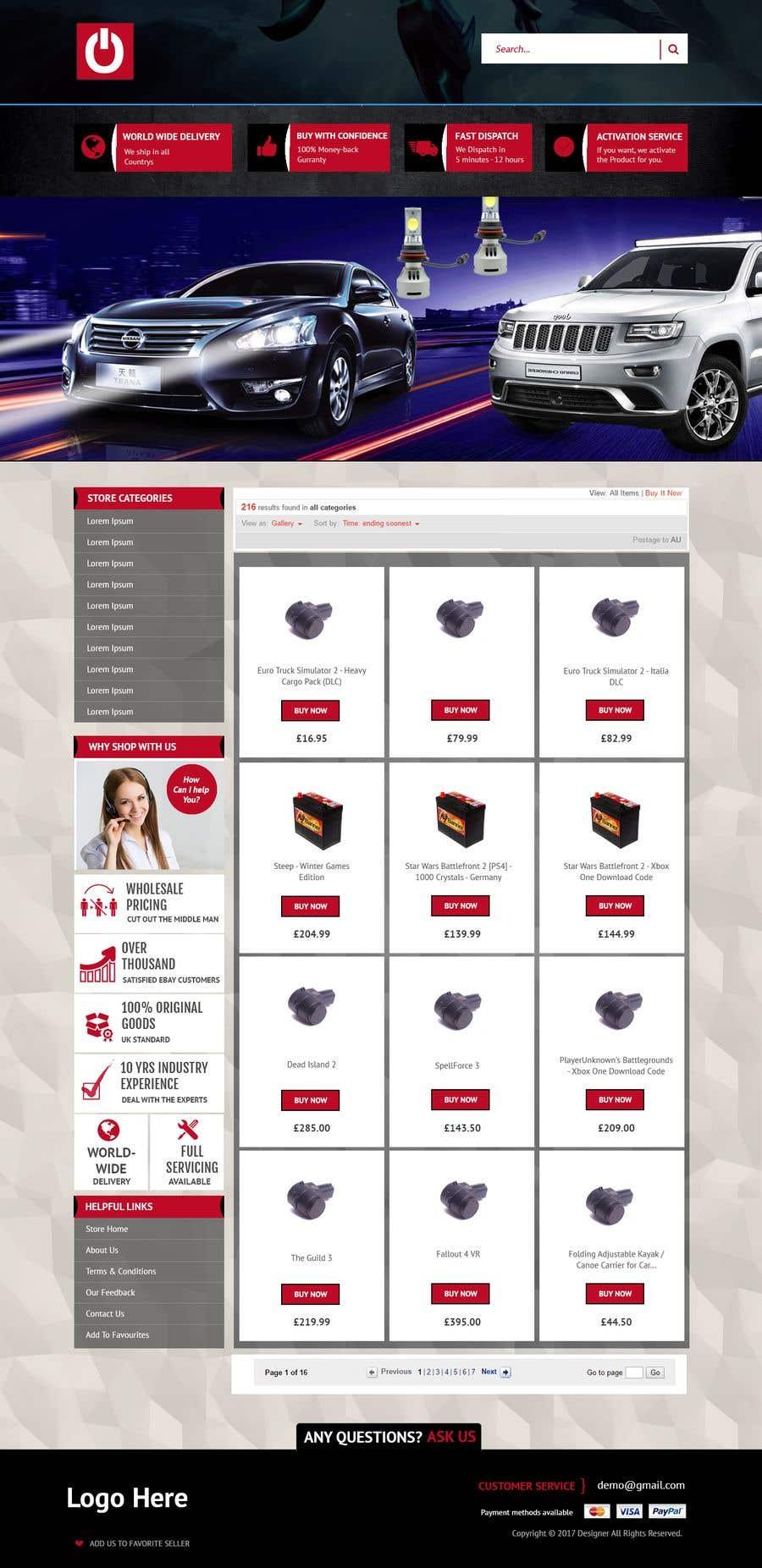 Contest Entry #1 for Template erstellen für Ebay JTL Easy Auction