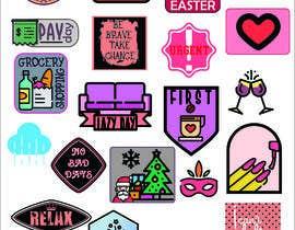 Nro 7 kilpailuun Design Stickers for Planner/Organizer käyttäjältä djingga17