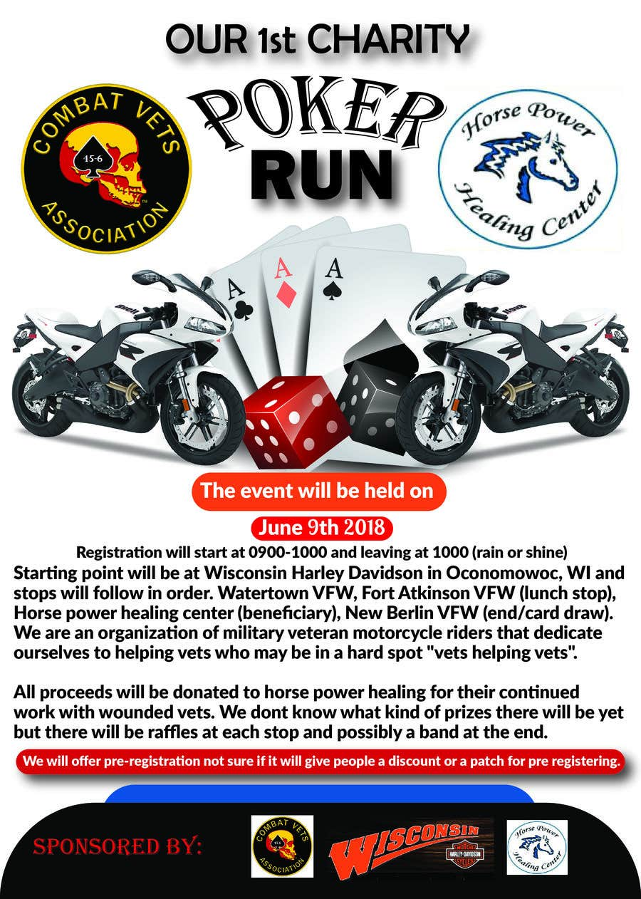 Contest Entry #6 for Inuagural poker run flyer