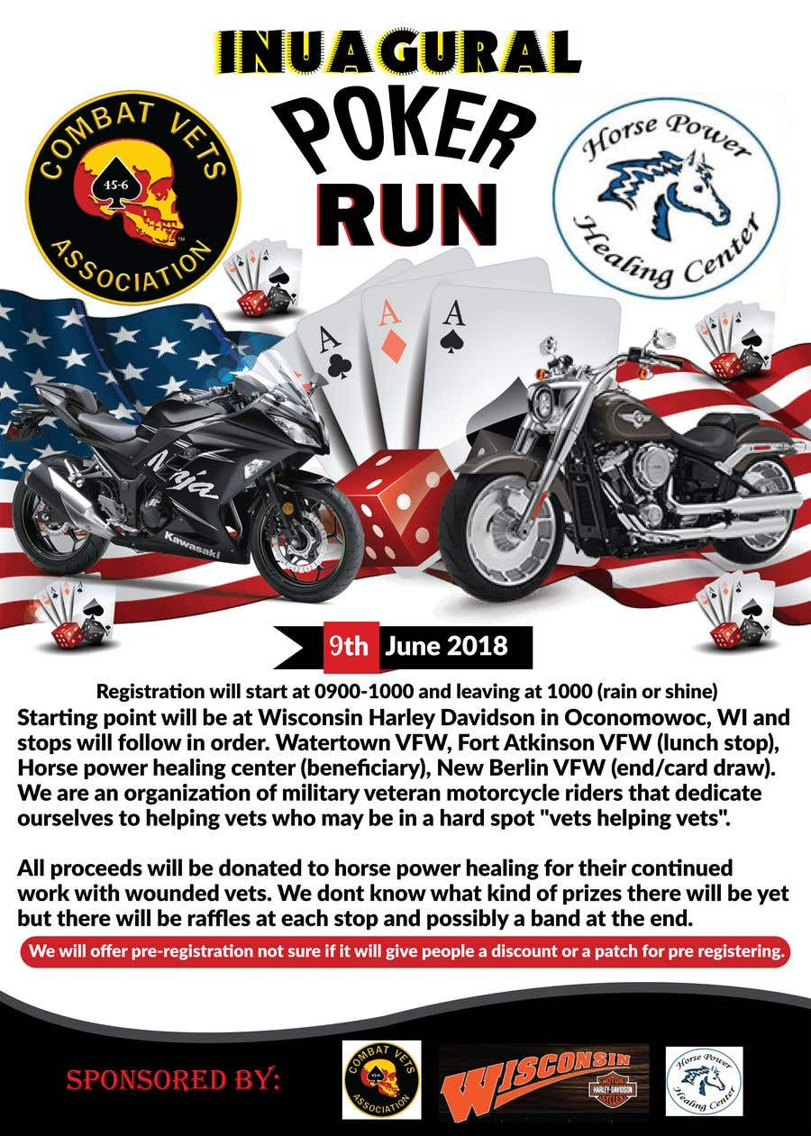 Contest Entry #60 for Inuagural poker run flyer