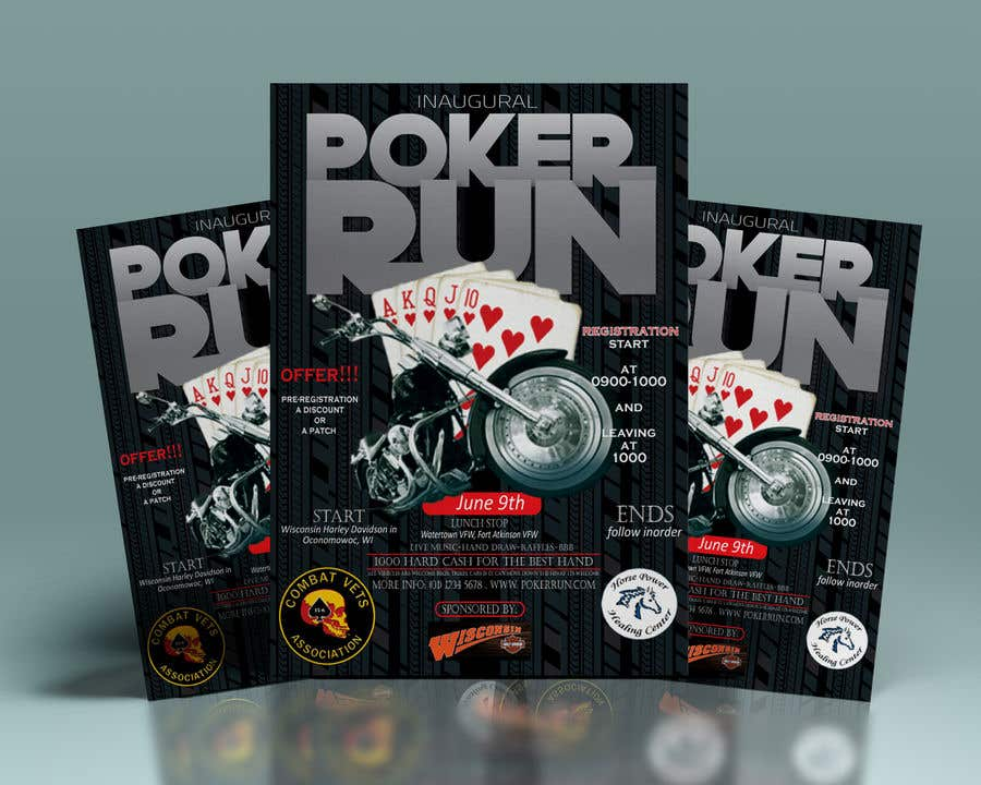 Contest Entry #3 for Inuagural poker run flyer