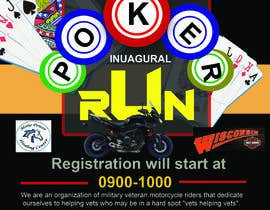 #34 for Inuagural poker run flyer by narayaniraniroy