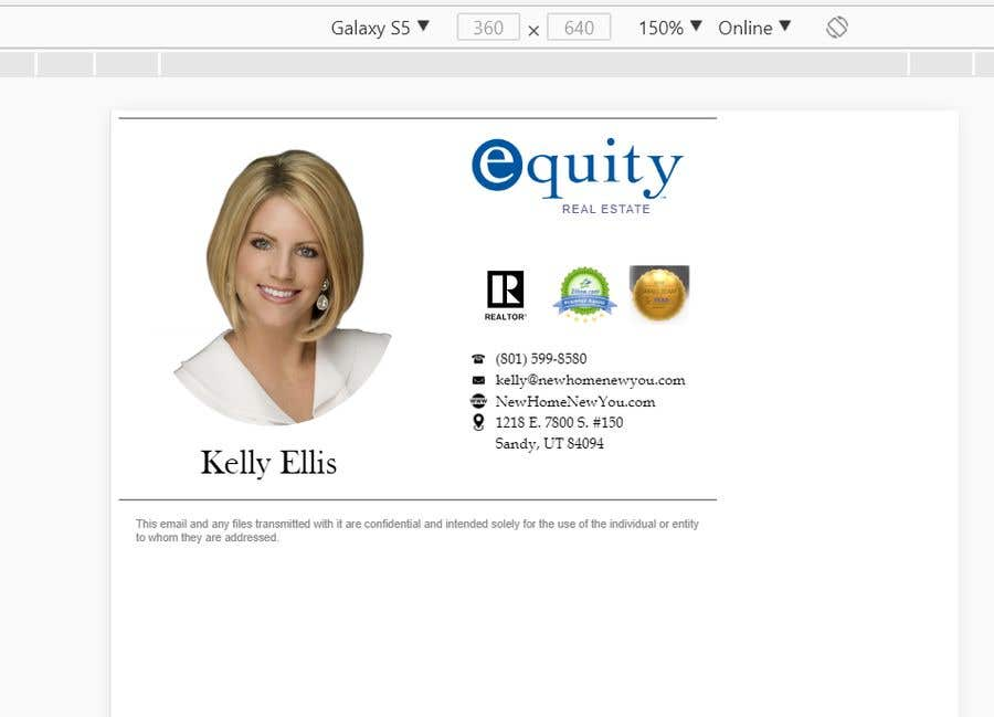 Entry #6 by vw7970634vw for Create a responsive Email Signature
