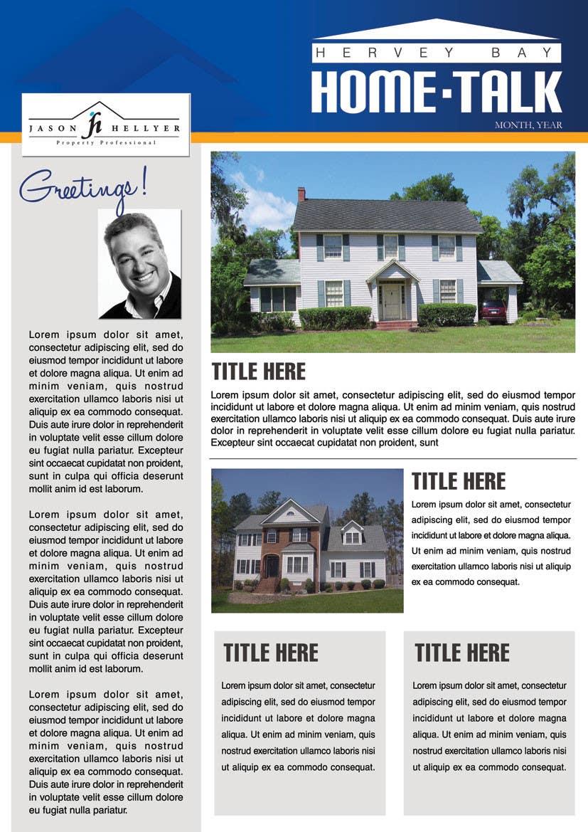 Bài tham dự cuộc thi #                                        7                                      cho                                         Real Estate Newsletter/Brochure
