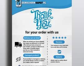 """Nro 24 kilpailuun A5 flyer """"thank you for your order"""" käyttäjältä jabir88"""