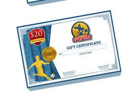 #6 untuk Create a Gift Certificate for soccer store oleh thedesignmedia