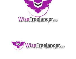 #56 cho Logo of a flying owl,, single color icon + website name + motto bởi ARAdesign