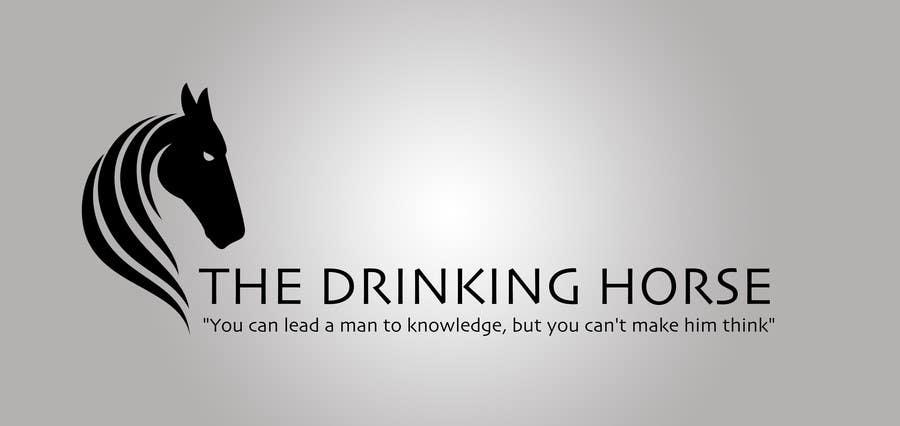 "Penyertaan Peraduan #                                        48                                      untuk                                         Design a Logo for ""THE DRINKING HORSE PTY LTD"""