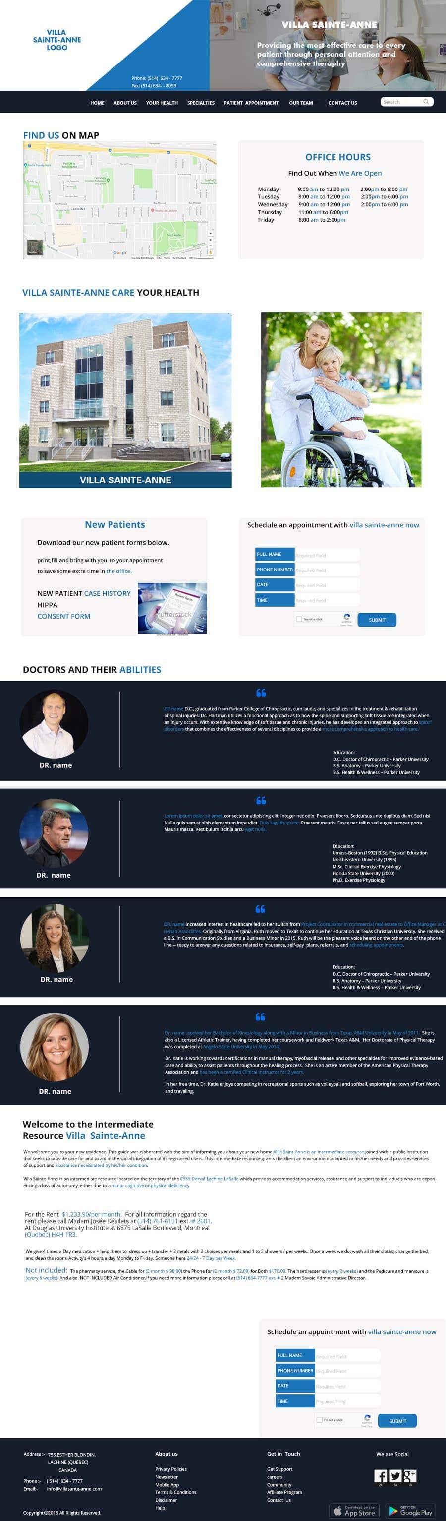 Penyertaan Peraduan #2 untuk Make a website mockup / visual design for our senior care home