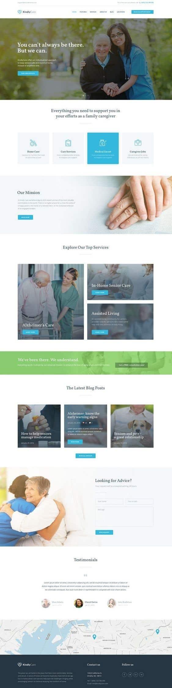 Penyertaan Peraduan #3 untuk Make a website mockup / visual design for our senior care home