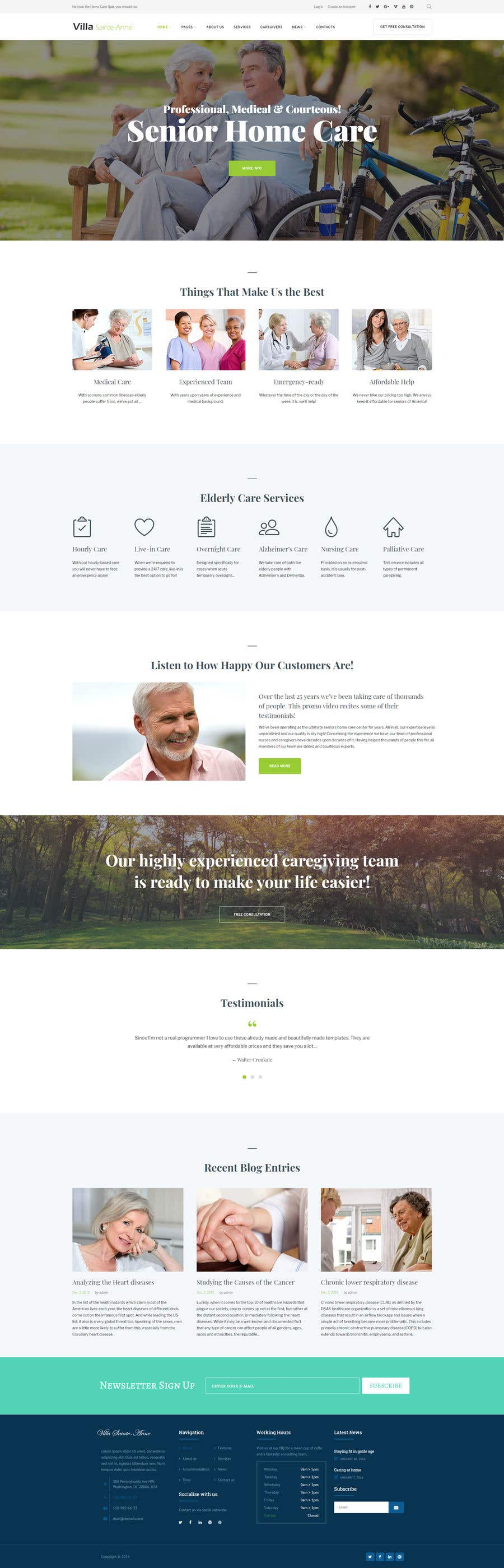 Penyertaan Peraduan #6 untuk Make a website mockup / visual design for our senior care home